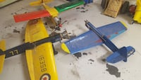 blue and yellow propeller toys