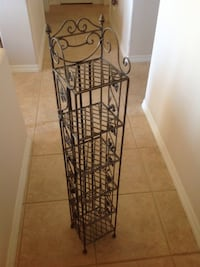 "Cute metal stand with 6 shelves 40""x7""x6"" $27.00 Prescott, 86305"