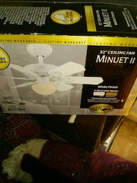 New open box ceiling fan with light fixture Alexandria, 22315