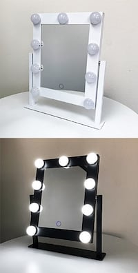 """New $50 each Small Mirror with 9 Dimmable Light Bulbs, Tabletop Hollywood Beauty Makeup, 11.5""""x10"""" South El Monte"""