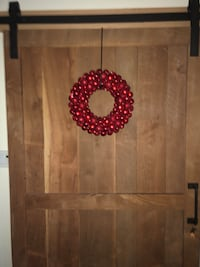 Red Ornament Wreath; 16 inch Germantown, 20874