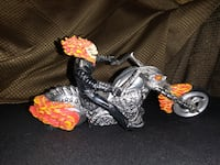 COLLECTABLE 8IN LONG GHOST RIDER CUSTOM BIKE WITH GHOST RIDER FIGURE