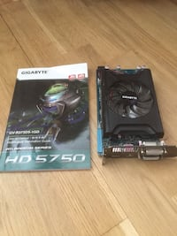 Gigabyte hd 5750 grafikkort 1gb