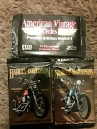 Harley davidson collectable cards series 1,2, & American vintage cards