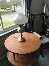 2 Tier wooden table. Price is negotiable.  Monmouth Junction, 08852