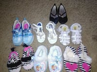 Size 7 slippers and sandals and size 8 shoes Colorado Springs, 80909