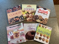 Set of 6 cookies & Baking cookbooks. $6.00 for all.