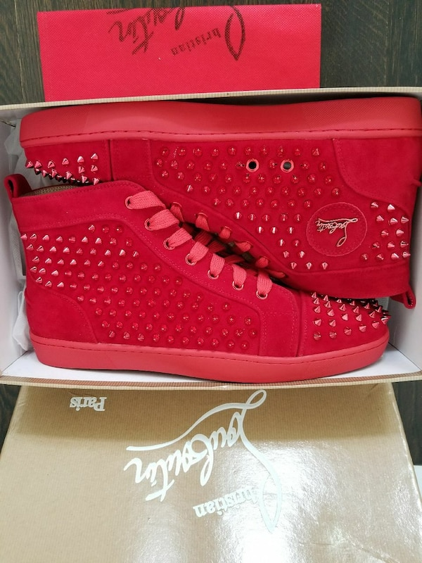 467d92dfedc Used Louboutains red bottom sneakers size 13 us 46 eur for sale in Jersey  City - letgo