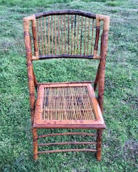 Vintage Folding Bamboo Chair Columbia Pick Up