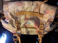 brown and beige leather tote bag Moncton