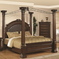 Solid Mahogany Queen Canopy Bed Frame Toronto