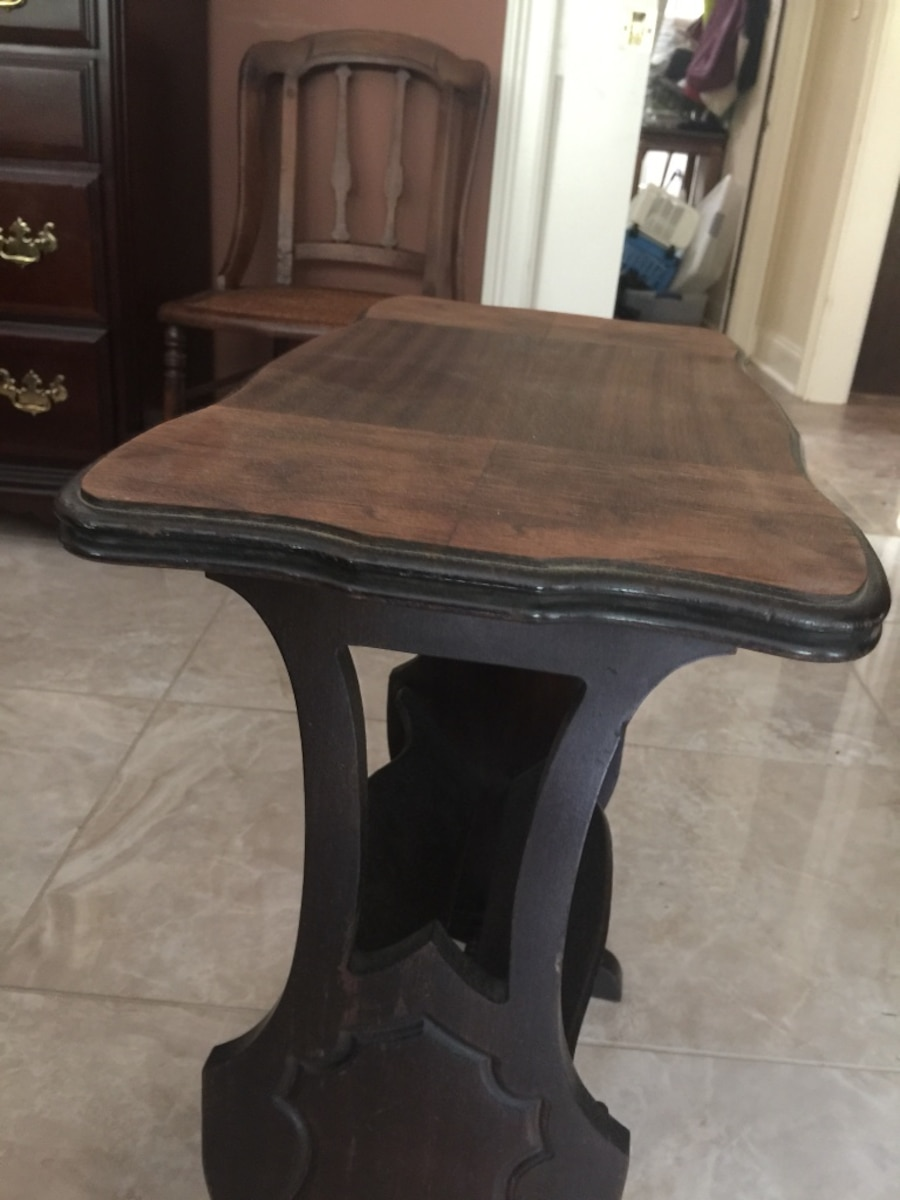 Used Rectangular Black And Brown Wooden Coffee Table In Lancaster