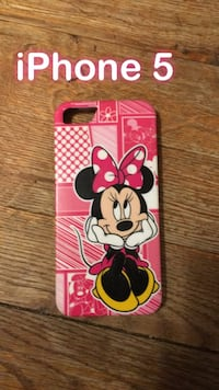 pink and white Minnie Mouse iPhone 5 case Moncton, E1A