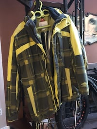 Black and yellow plaid button-up shirt Red Deer, T4N 3S4