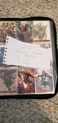 Huge 18+ lot of Marvel/DC collectable cards. $1300 OBO Morinville, T8R 1H9