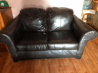 black leather 2-seat sofa Weslaco, 78599
