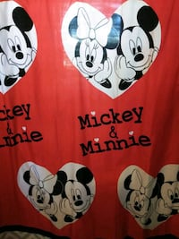 Mickey and Minnie shower curtain and matching rug Odessa, 79764