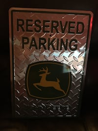 John Deere Reserved Parking Sign-Great for any Man Cave! Toronto, M3H 5W9