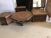 brown wooden coffee table and side table Independence, 64055