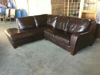 FUTURA Genuine Leather Sectional Sofa Couch
