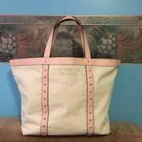 white and brown leather tote bag Regina, S4N 5K8