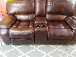 Theater style sofa recliner