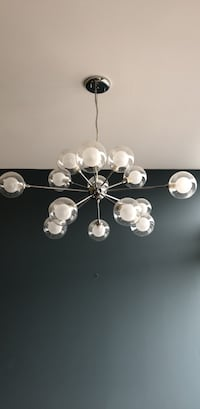 silver-colored and white pearl pendant lamp Montréal, H4P 1W7