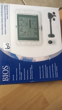 Bios weather home weather station with wind speed.  New.in box Brampton, L6P 1B5