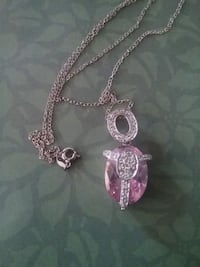Beautiful sterling 925 silver necklace..pink stone Middle River, 21220