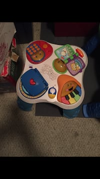 white, blue, and red activity table Streamwood, 60107