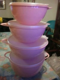 pink and white plastic container Dallas, 75229