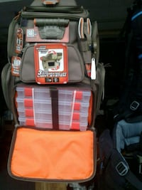 Backpack 4 trays interior exterior lighting new