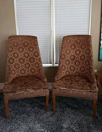 Vintage high back chairs