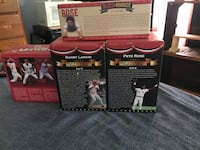 Selling trouble bobble heads Pete rose barry Larkin and pete rose statue