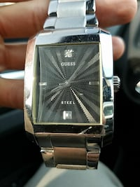 Guess Stainless Steel Diamond Watch