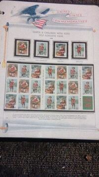 assorted-color postage stamp lot Los Angeles, 90062