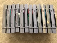 Super nintendo games $5 each and under Santa Ana, 92701