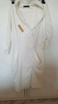 cappotto button-up bianco 6814 km