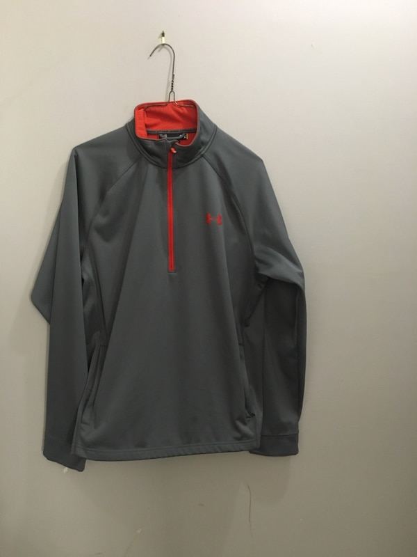 Men's large loose under armour 1/4 zip sweater jacket shell