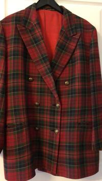 red and black plaid button-up coat Toronto