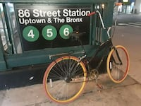 black and yellow cruiser bike Brooklyn, 11215