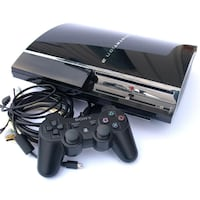 black Sony PS3 slim console with controller WINNIPEG