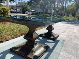 Beautiful thick glass coffee table