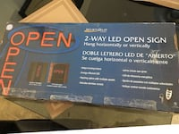 MystiGlo 2 Way LED Open Sign With Remote New In Box!!