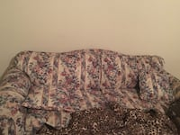 white couch with flower pattern Lubbock, 79416