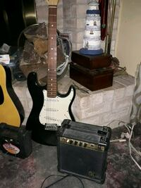 Electric guitar and Amplifier 20 amp