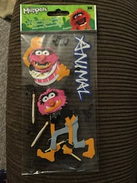 The Muppets Animal dimensional scrapbook stickers never used Niagara Falls, L2J 1K6
