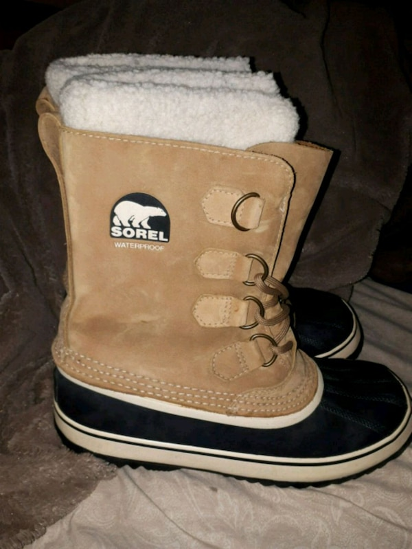 pair of brown-and-black UGG boots
