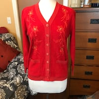 Women's red holiday sweater Palmdale, 93551