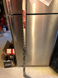 2 hockey sticks, both left handed. 1 bauer (9/10) $115 and 1 ccm (7/10)$65, 150 for both obo still available Hamilton, L9C 7M3